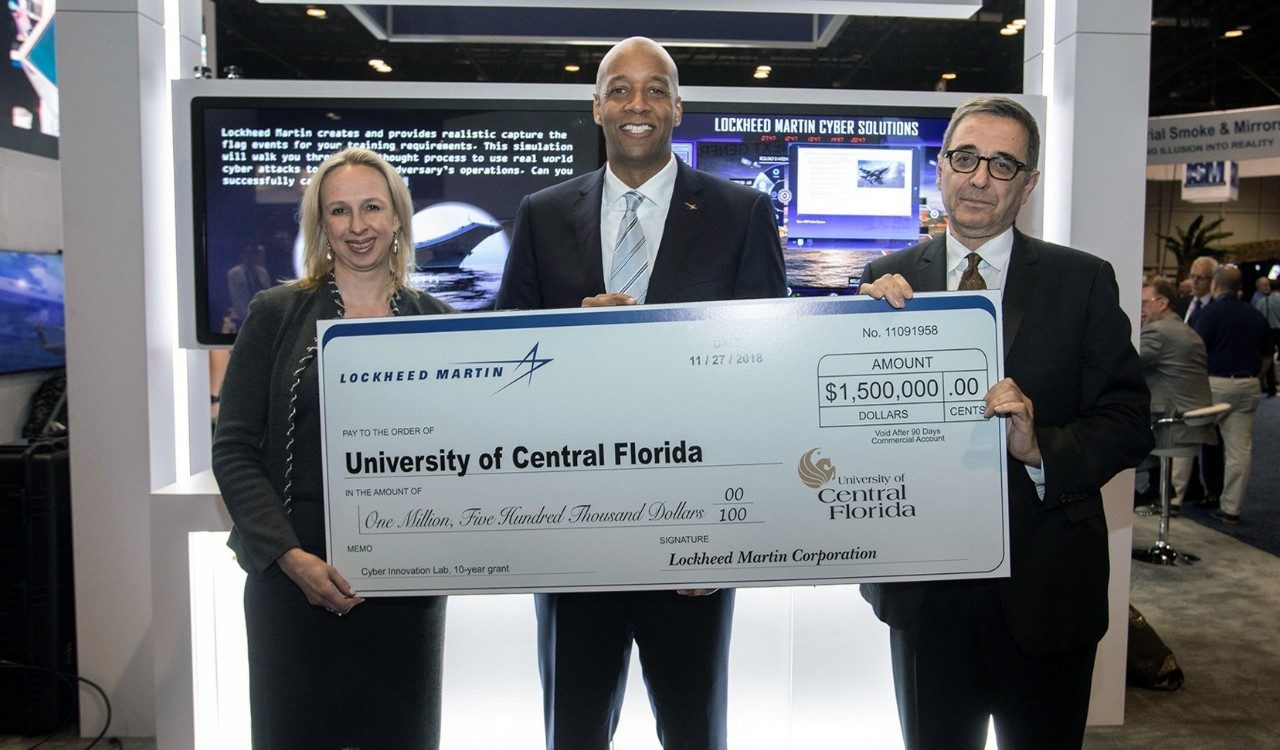 Lockheed Martin Gives $1.5 Million To Develop New Cyber Innovation Lab At University Of Central Florida